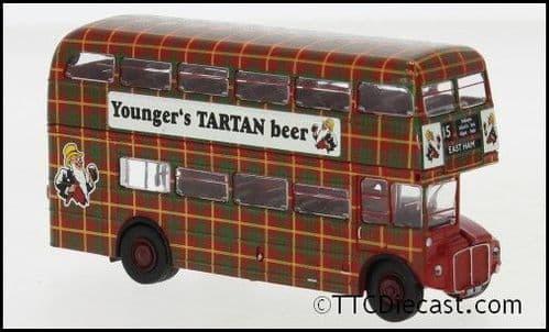 Brekina 61107 AEC Routemaster London Transport Youngs Tartan Beer, 1/87 Scale