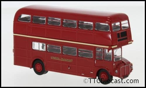 Brekina 61109 AEC Routemaster London Transport Nuetral Bus - Red 1967, 1/87 Scale