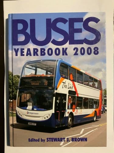 Buses Yearbook 2008, Stewart J.Brown. Contents shown on photos.