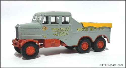 CORGI 17602 - Scammell Constructor & 24 Wheel Low Loader - SUNTER BROS. - 1/50 Scale * PRE OWNED *