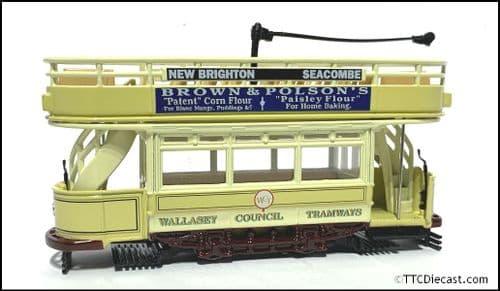 CORGI 36601 Double Deck Tram, Wallasey , 1/72 Scale *PRE OWNED*