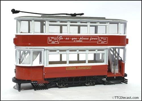 CORGI 36701 Double Deck Tram, London Transport , 1/72 Scale *PRE OWNED*