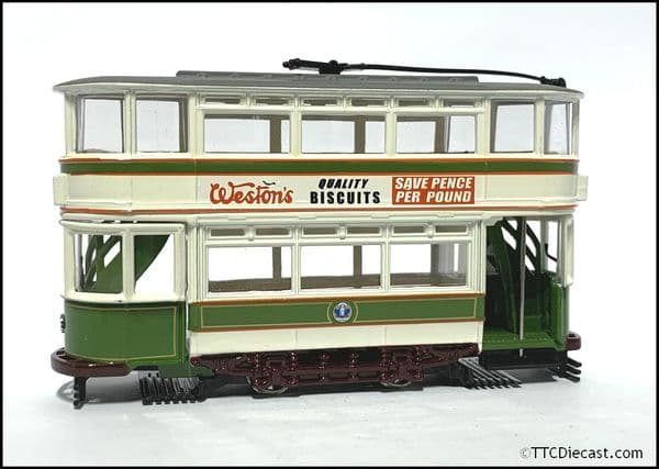 CORGI 36702 Double Deck Tram, Dundee , 1/72 Scale *PRE OWNED*