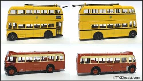 CORGI 45001 Dorset Delights Gift Set  - Bournemouth Corporation +  Wilts & Dorset *PRE OWNED*