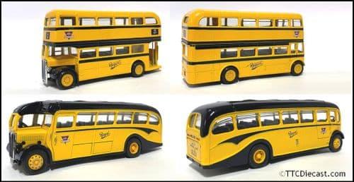 CORGI 96990 AEC Regent (1/64 Scale) & AEC Regal / Duple (1/50 Scale) - AEC Set  * PRE OWNED *