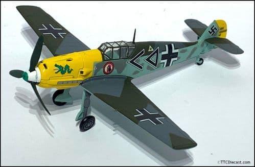 CORGI AN32107 Messerschmitt BF109E - Mustang - Hans von Hahn - 1:48 Scale  * PRE OWNED *