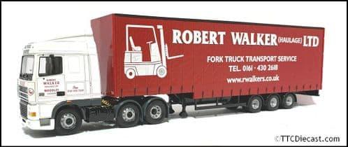 CORGI CC13226 - DAF XF Space Cab Step Curtainsider - Robert Walker - 1:50 Scale *PRE OWNED*