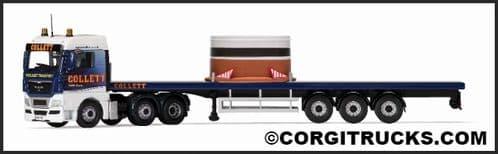 CORGI CC15211 MAN TGX Flatbed & Load, Colletts