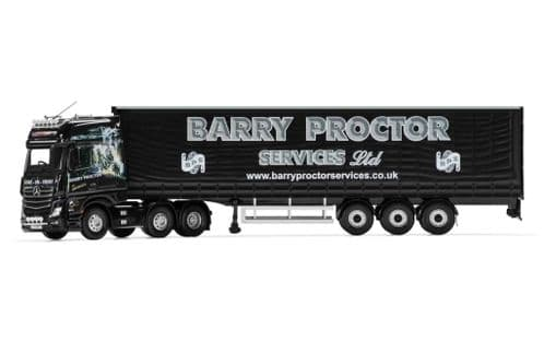 CORGI CC15810 Mercedes-Benz Actros (MP4), Curtainside Trailer, Barry Proctor Services Ltd