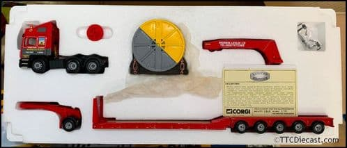CORGI Heavy Haulage CC12007 MAN King Tailer and Load - 'Leslie of Perth' 1/50 Scale *PRE OWNED*