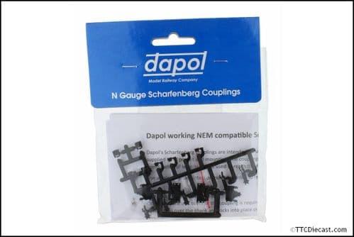 DAPOL 2A-000-029 Scharfenberg Coupler 1 pair (makes short, mediium or long)