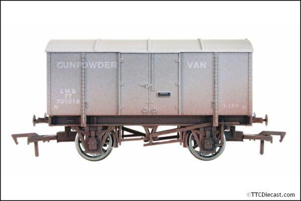 DAPOL 4F-013-020 Gunpowder Van LMS Grey 7004 Vs. 2 Weathered