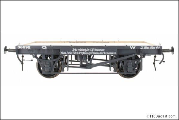 DAPOL 7F-037-100 GWR Conflat 36692 12Tons Tare 6-1, O Gauge