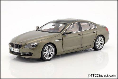 Dealer model BMW 2218742 - BMW 650I F06 6ER GT frozen bronze -  1:18 Scale
