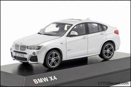 Dealer model BMW 2348787 - BMW X4 F26 Glacier Silver -  1:43 Scale