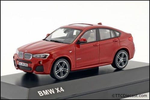 Dealer model BMW 2348789 - BMW X4 F26 Melbourne Red -  1:43 Scale
