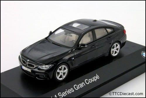 Dealer model BMW 2348790 - BMW 4 Series GC F36 Carbon black -  1:43 Scale