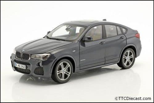 Dealer model BMW 2352461 - BMW X4 F26 Sophisto Grey -  1:18 Scale