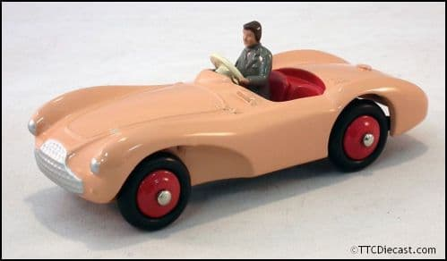 Dinky 104 Aston Martin DB3S and Driver - Pink Reproduced by Atlas Editions