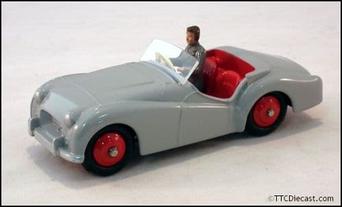 Dinky 105 Triumph TR2 Sports and Driver - Grey Reproduced by Atlas Editions