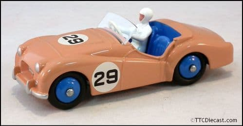 Dinky 111 Triumph TR2 [Pink] Sports and Driver Reproduced by Atlas Editions