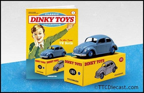 Dinky 181 Volkswagen Beetle Reproduced by Atlas Editions