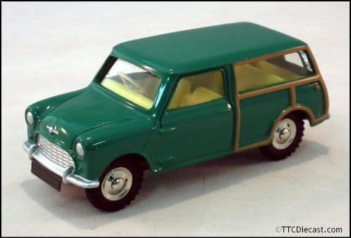 Dinky 197 Morris Mini Traveller - Green Reproduced by Atlas Editions