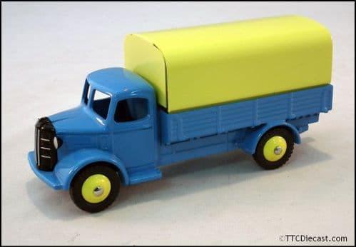 Dinky 413 Austin Covered Wagon - Blue Reproduced by Atlas Editions