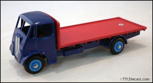 Dinky 512 Guy Vixen Flatbed Blue/Red Reproduced by Atlas Editions
