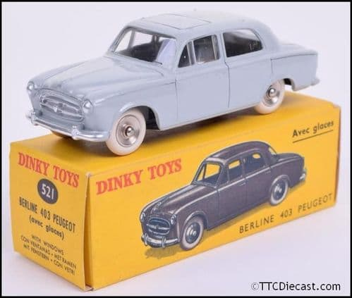 Dinky 521 Peugeot 403 Reproduced by Atlas Editions