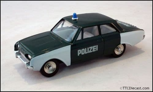 Dinky 551 Ford Taunus Polizeiwagon Reproduced by Atlas Editions