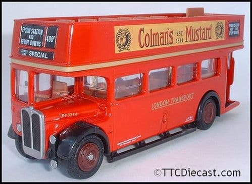 EFE 102002 AEC Regent III RT OPEN TOP - London Transport - Route 406 Epsom Stn / Downs - PRE OWNED