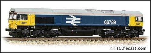 Farish 371-389 Class 66/7 66789 GBRf BR Blue (Large Logo), N Gauge