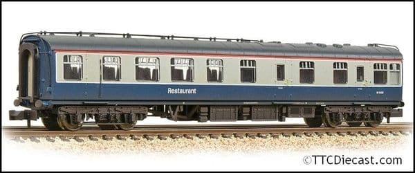 Farish 374-122A BR Mk1 RU Restaurant Unclassified BR Blue & Grey - Weathered, N Gauge