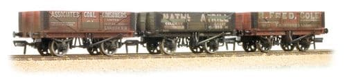 FARISH 377-065 Coal Trader Triple Pack 5 Plank Wagons Weathered *LAST ONE*