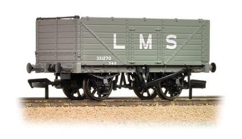 FARISH 377-087 7 Plank Wagon End Door LMS Grey  *LAST FEW*