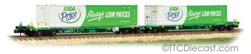 Farish 377-368 Intermodal Bogie Wagons with 45ft Containers 'ASDA'