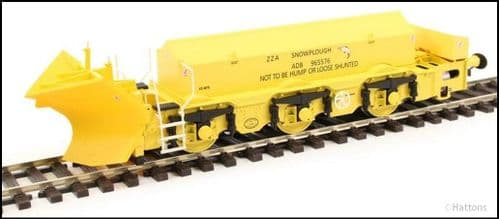 Hattons H4-BH-001 Beilhack snow plough (ex Class 40) ZZA ADB965576 in BR yellow
