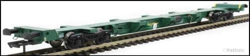 Hattons H4-FEAE-001A FEA-E intermodal wagon in Freightliner green 641003