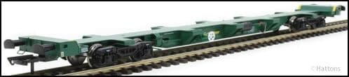 Hattons H4-FEAE-002A FEA-E intermodal wagon in Freightliner green 641013