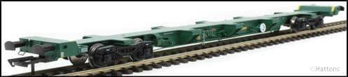 Hattons H4-FEAE-003A FEA-E intermodal wagon in Freightliner green 641060