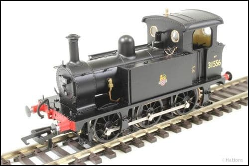 Hattons H4-P-016 SECR P Class 0-6-0T 31556 in BR black with early emblem