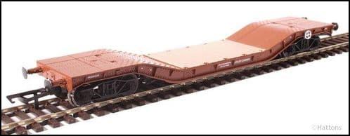 Hattons H4-WW-007 Warwell wagon 50t diamond frame bogies M360329 in BR Gulf Red