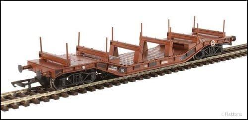 Hattons H4-WW-010 Warwell wagon 50t diamond frame bogies DW160819 BR brown steel/rail Wtd LAST FEW