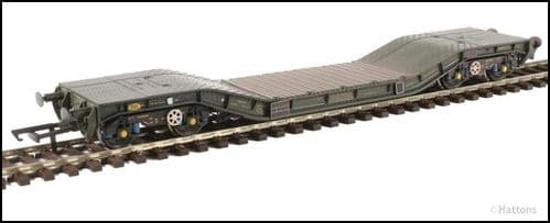 Hattons H4-WW-015 Warwell wagon 50t with Gloucester GPS bogies MODA95512 in MOD 1970s olive Wthrd