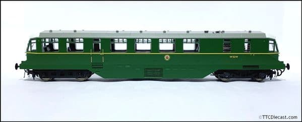 HELJAN 19404 GWR Railcar BR green speed whiskers (white cab roof) OO Gauge