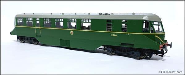 HELJAN 19405 GWR Railcar BR green speed whiskers (dark grey roof) OO Gauge