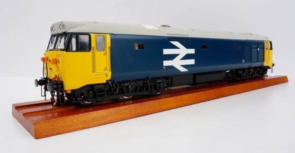 HELJAN 4021 Class 50 in BR large logo blue - unnumbered, O Gauge