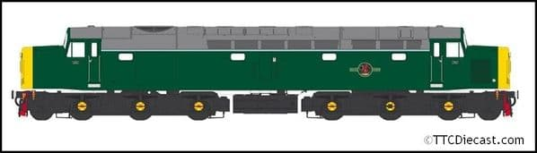 HELJAN 4062 Class 40 BR green Full Yellow Ends, O Gauge