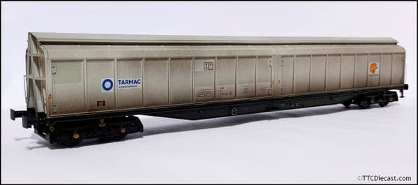 HELJAN 5023 Cargowaggon IWB Bogie Van Colas/Tarmac Grey (Weathered), OO Gauge
